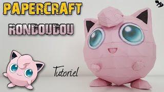 Papercraft - Rondoudou ! Tutoriel pour construire ton Pokemon en 3D ! Jigglypuff