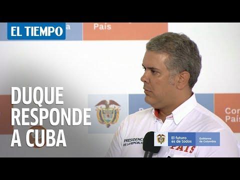 Duque reitera llamado a Cuba para que entregue a negociadores del Eln   EL TIEMPO