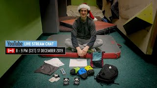 Adam Ondra Live Stream Chat Q&A Invitation - 17 December 2019