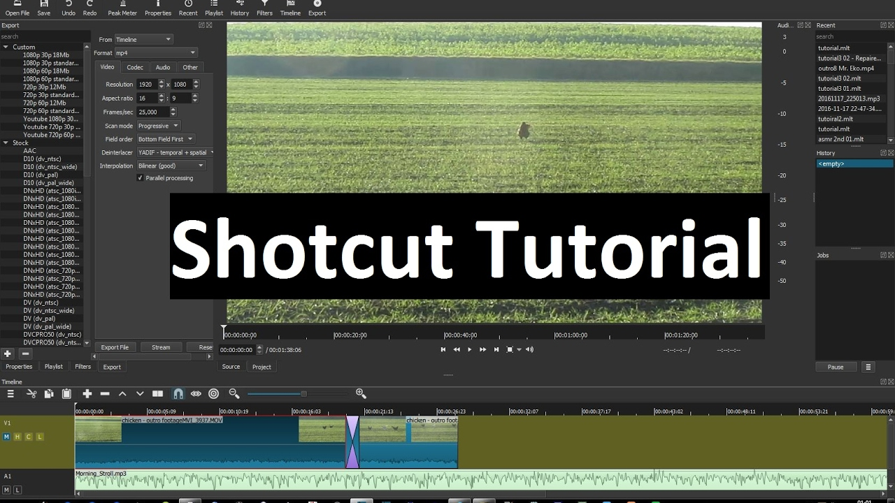Shotcut Tutorial Part 8 Slow Motion And Timelapse