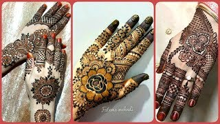 Top Stylish Easy Simple Henna Mehndi Designs For Beautiful Girls On this Eid 2019