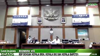 LIVE STREAMING - KOMISI VII DPR RI RDP DENGAN KEPALA BRIN