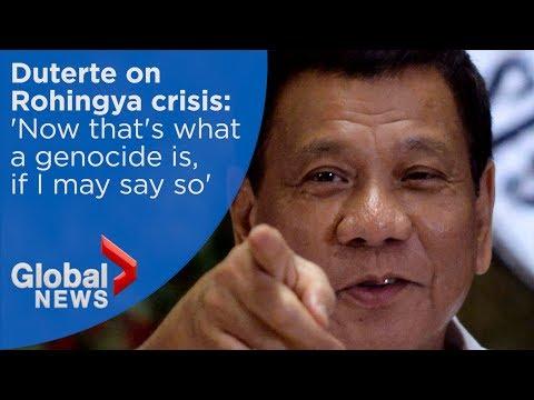 Duterte says Philippines will accept Rohingya refugees