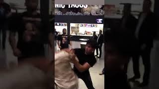 Драка в аэропорту после боя Хабиба и Конора Лас-Вегас 07.10.2018