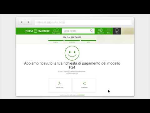 Paga l'F24 in modo semplice e veloce - Internet banking Intesa Sanpaolo