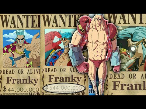 One Piece - Franky Evolution bounty's from the start until the end (Prediction)