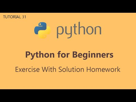 #31 Python Tutorial for Beginners | Exercise With Solution Homework thumbnail