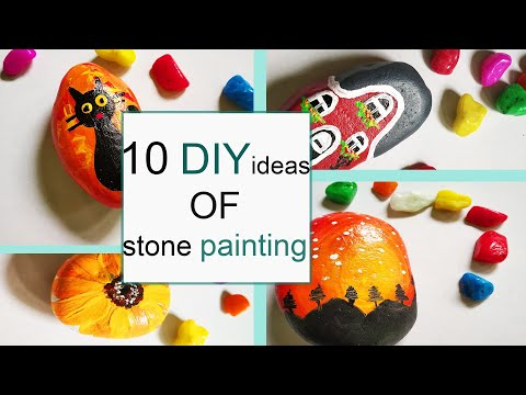10 Easy stone painting ideas l DIY stone art ideas l Beautiful Rock painting ideas l craft series