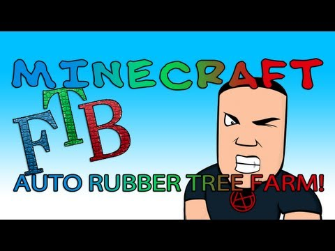 Minecraft Feed The Beast - HOW TO BUILD AN AUTOMATIC RUBBER TREE FARM! (Tutorial Video)