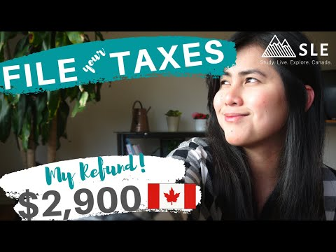 TAX RETURN - HOW TO FILE - International Students In Canada - Simple Tax - I Got $2900 Refund!
