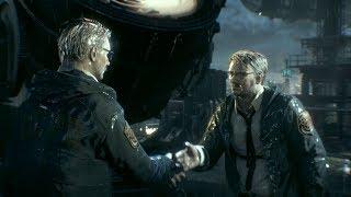 Batman: Arkham Knight - Everyone meets Gordon at the Batsignal (Char swap + mesh swap mod)