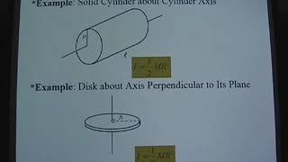 普通物理1 第19堂 Calculation of the Moment of Inertia&Parallel Axis Theorem