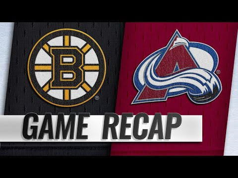 Avalanche score four in the 3rd to rally past Bruins