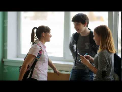 Russia, Novosibirsk, 2015: high school students talk