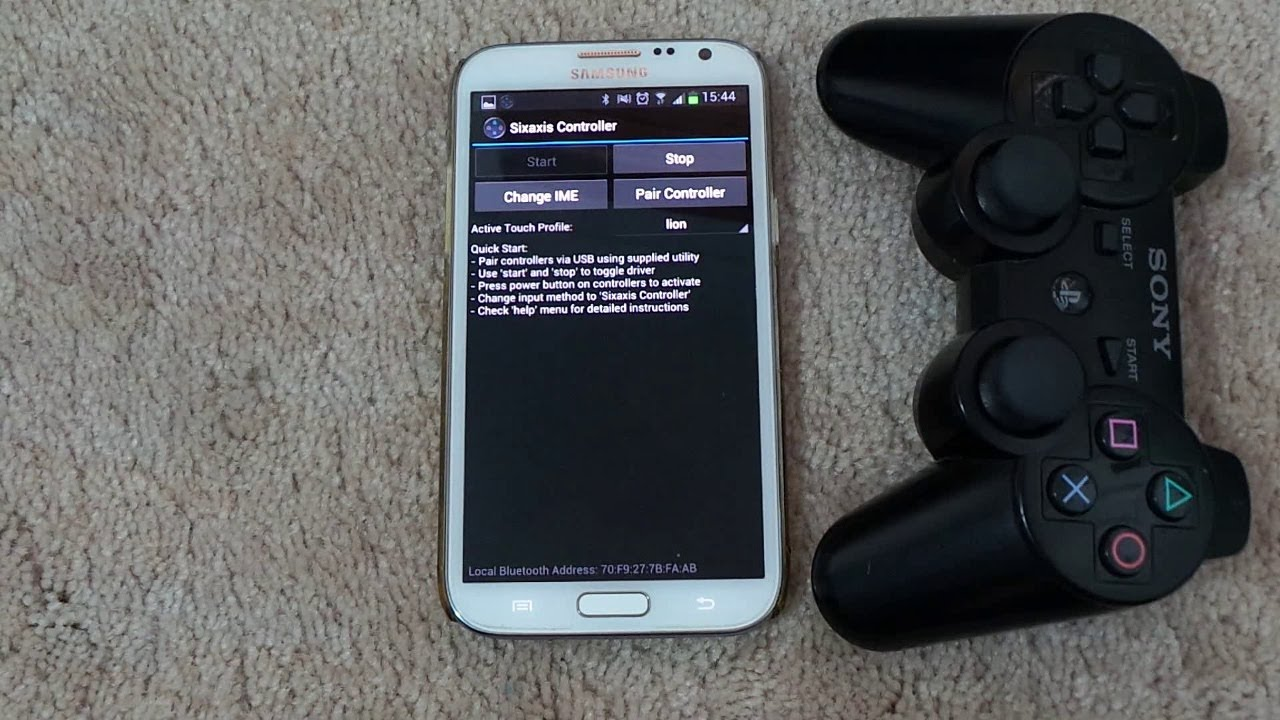 how to connect a ps3 controller with s5 s4 note 3 and. Black Bedroom Furniture Sets. Home Design Ideas