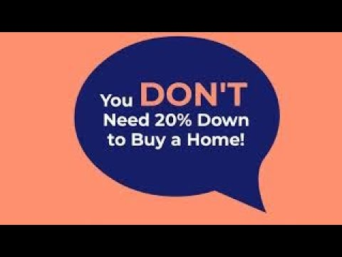 You don't need 20% down to buy a home.