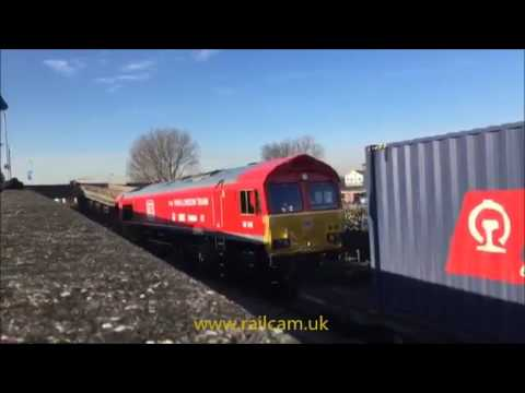Arrival at Barking Euroterminal first China to London freight train