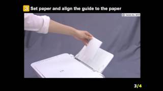 PIXMA MG2924: Setting the paper