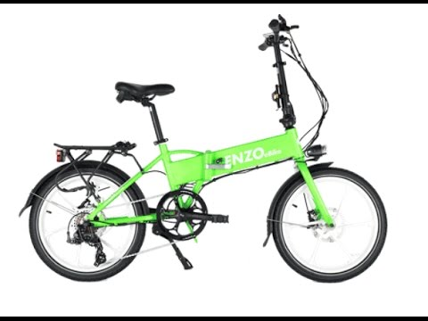 enzo folding ebike 350 watt electric bike review youtube. Black Bedroom Furniture Sets. Home Design Ideas