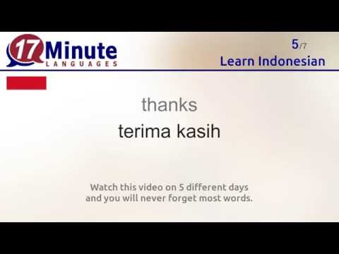 Learn Indonesian (free language course video)