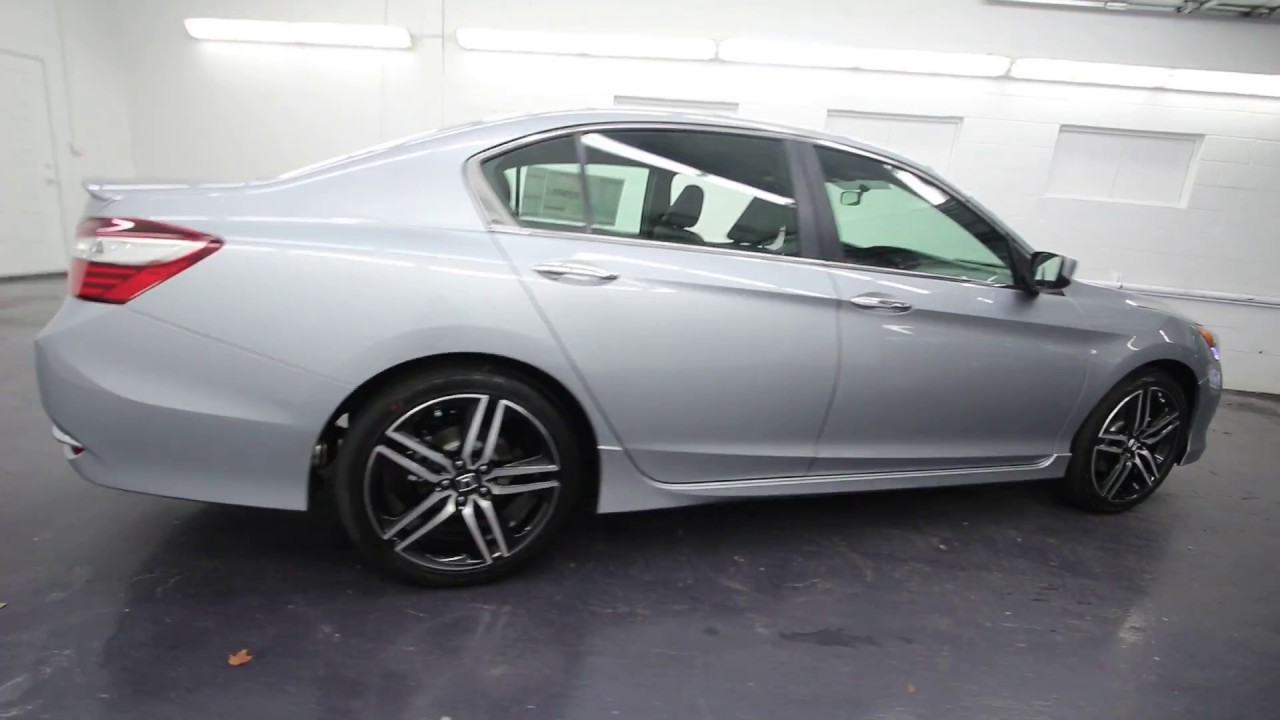 2017 Honda Accord Sport Lunar Silver Metallic Ha070755 Seattle On