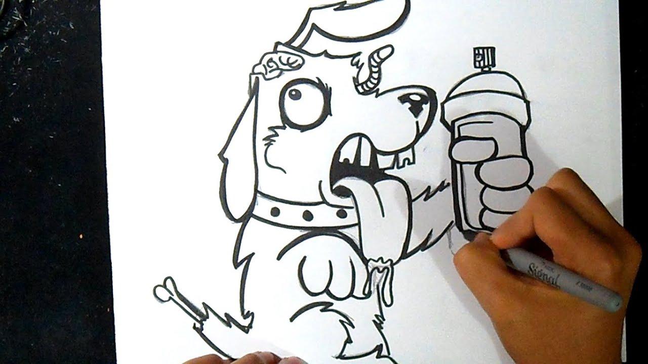 Cmo dibujar un Perro Zombie con Spray Graffiti  YouTube