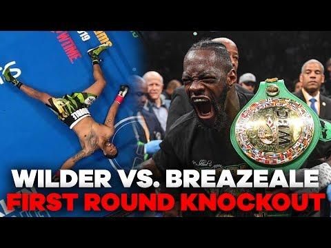 Deontay Wilder MASSIVE Knockout Punch | Wilder vs. Breazeale Highlights
