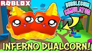 GETTING THE INFERNO DUALCORN TOY LAND REWARDS PET *SLOT 150* IN BUBBLEGUM SIMULATOR - ROBLOX