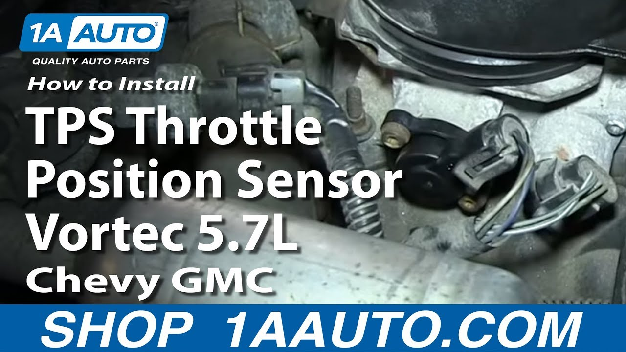 How To Install Replace Tps Throttle Position Sensor Vortec 57l 2001 Gmc Van Transmission Wiring Diagram Chevy Youtube