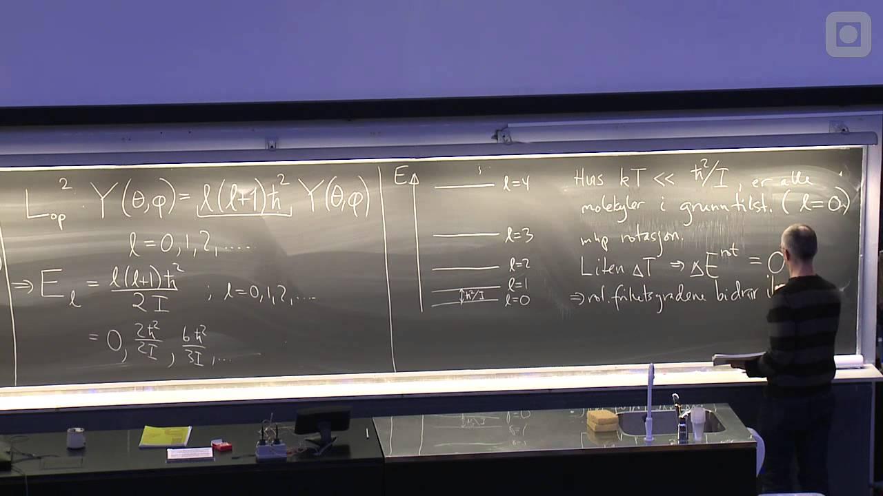 19: CV for toatomige molekyler. Rotasjon. Translasjon. CV for krystaller.