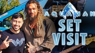 JABY ON THE AQUAMAN SET | Jason Momoa