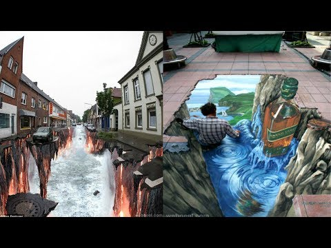 Most Amazing 3D Street Art Illusions That Will Blow Your Mind | Creative 3D Street Chalk (part 4)