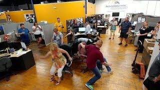 Electric Slide Musical Chairs - Office Chair Showdown! ConEquip Parts