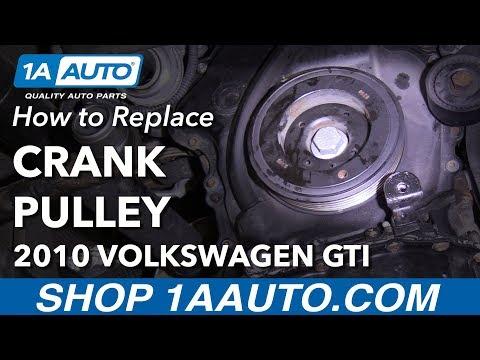 How to Replace Crankshaft Pulley 10-14 Volkswagen GTI