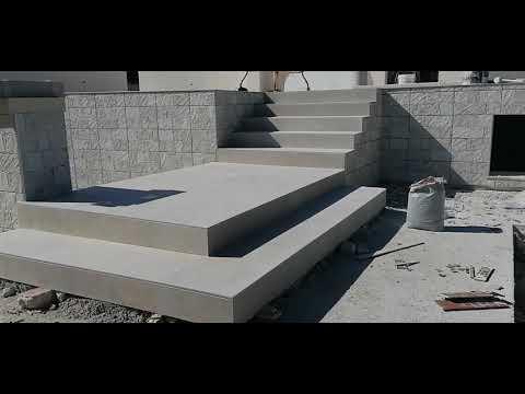 Rifacimento scale su misura da esterno in gres ceramico