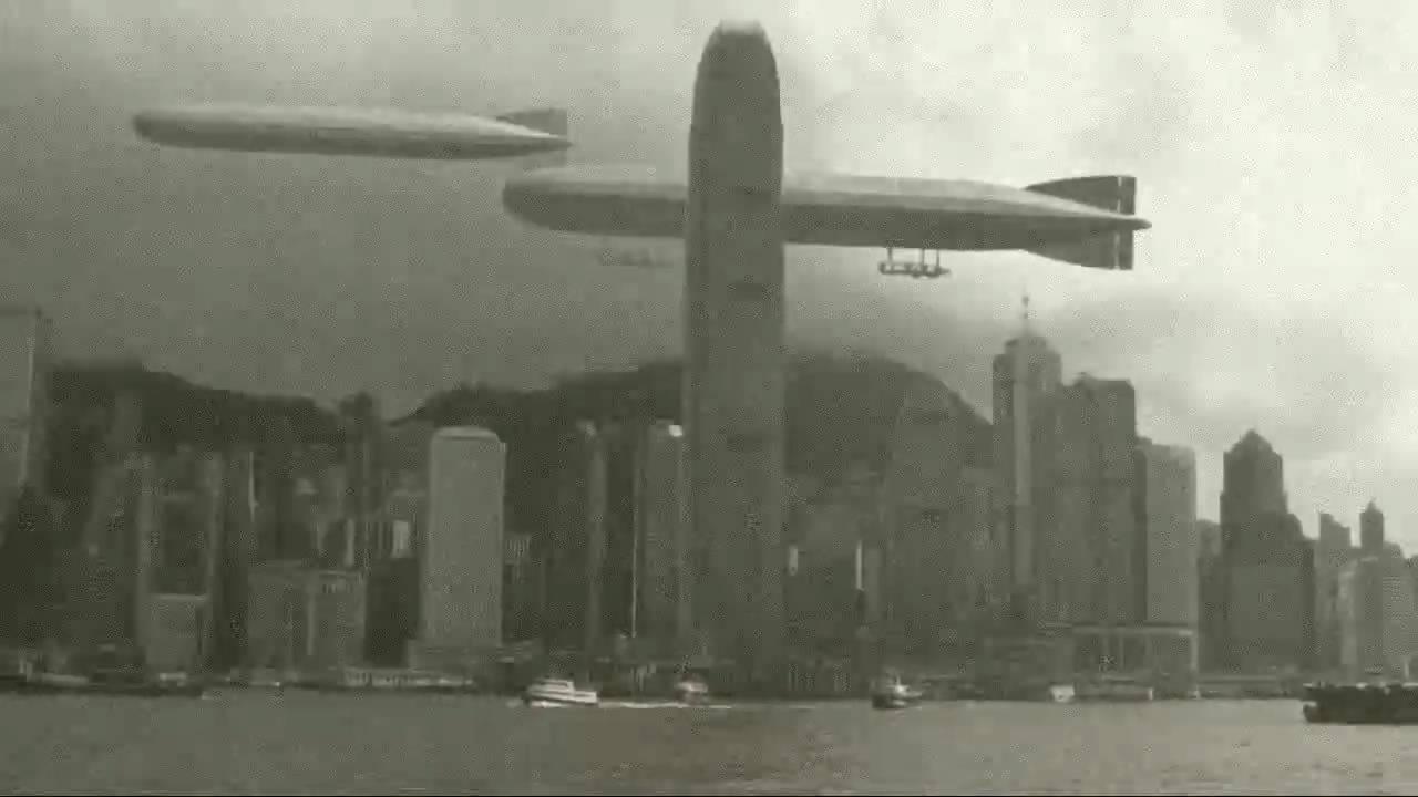 Old Hong Kong - Airships over the city - YouTube