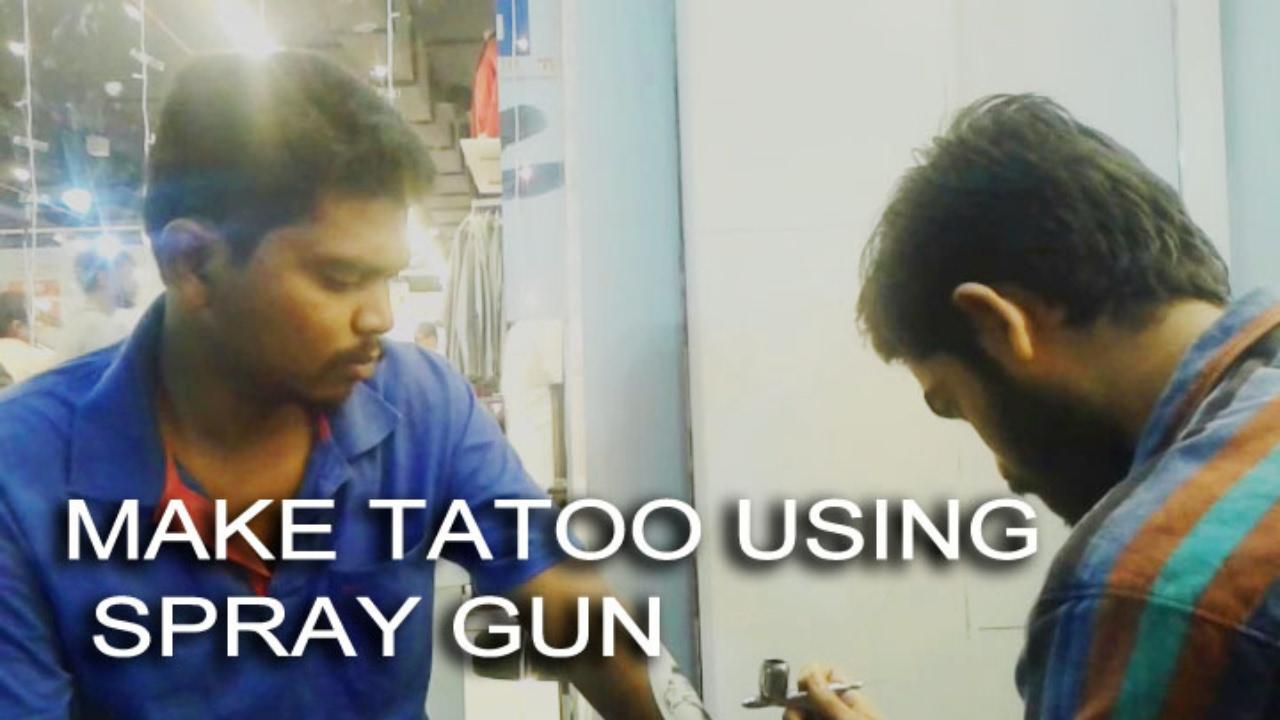 How to make tattoo using spray gun youtube for How to assemble tattoo gun