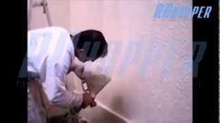 Пистолет-хоппер текстурный RK-1 (наброска шубы) RUhopper.ru(На видео представлено как легко без усилий создать декоративное покрытие из штукатурки (шубу) с помощью..., 2015-02-07T08:00:35.000Z)