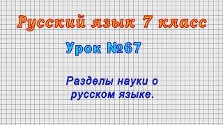 Русский язык 7 класс (Урок№67 - Разделы науки о русском языке.)