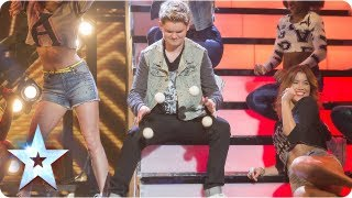 Thomas Bounce's balls bring all the girls to the stage | Semi-Final 3 | Britain's Got Talent 2013