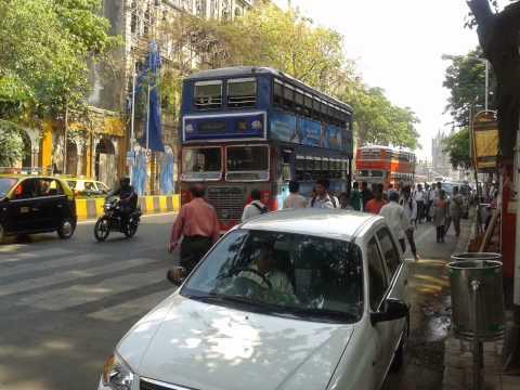 Double Decker Buses On Mumbai Road....