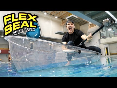 I MADE AN ENTIRE BOAT WITH FLEX TAPE CLEAR!! (TESTING FLEX T