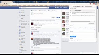 Chrome extension: Auto send message to a group of people on Facebook