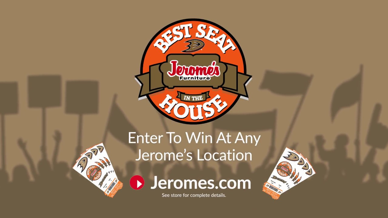 Jerome S Furniture Best Seat In The House At The Anaheim Ducks