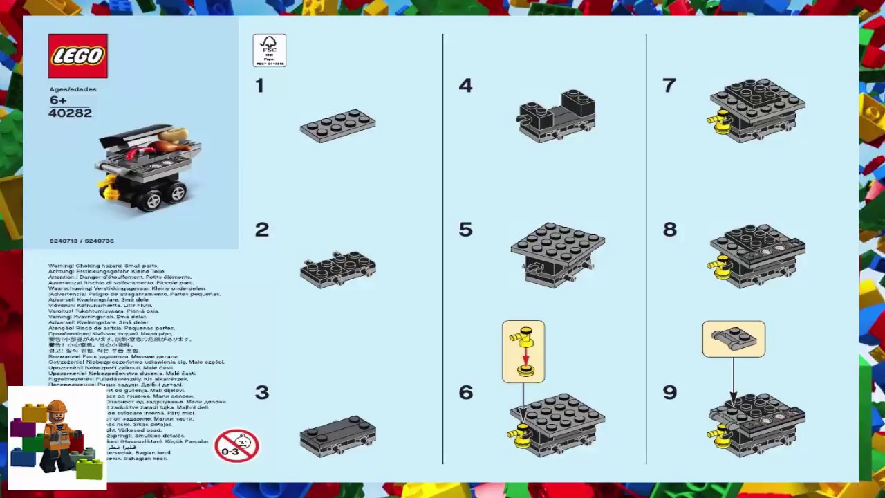 Lego Instructions Monthly Mini Model Build 40282 Bbq 7 2018