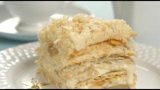 """Торт """"Наполеон"""" за полчаса из готового слоеного теста🔶Очень вкусный и быстрый торт """"Наполеон""""!"""