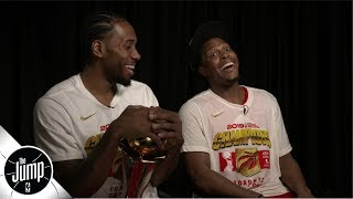 Kawhi Leonard and Kyle Lowry sit down with Rachel Nichols to describe the up-and-down, rollercoaster of a journey the Toronto Raptors were on all season en ...