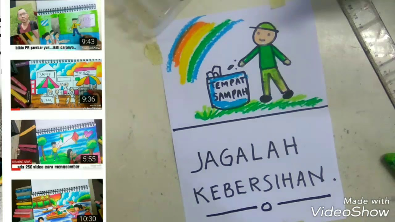 Paling Gampang Menggambar Poster Buat Anak Tk Easy Poster Drawing Youtube
