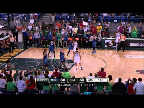 Seimone Augustus Quiets the Storm with Late Jumper!