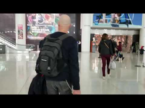 JFK International Airport Terminal 1 On New Years Eve 2018. Video 2